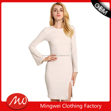women fashion white needle 100 cotton sweater dresses in winter