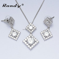 Gold Plated CZ Party Jewelry Sets