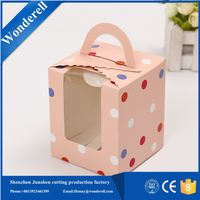 custom hard cover paper packaging luxury vertical candy window boxes