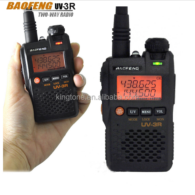 Cheap VHF UHF Dual Band Dual Display Ham Radio China Baofeng UV 3R Radio Transceiver
