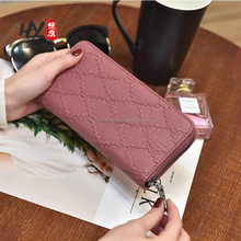 High-quality PU material long section lingge zipper wallet