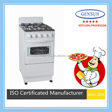 Hot sell appliances kitchen forno 50x50cm white gas cooker with bread baking pizza oven cooking range