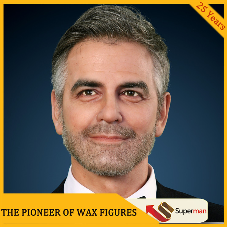 Super star George Timothy Clooney hyper realistic waxwork
