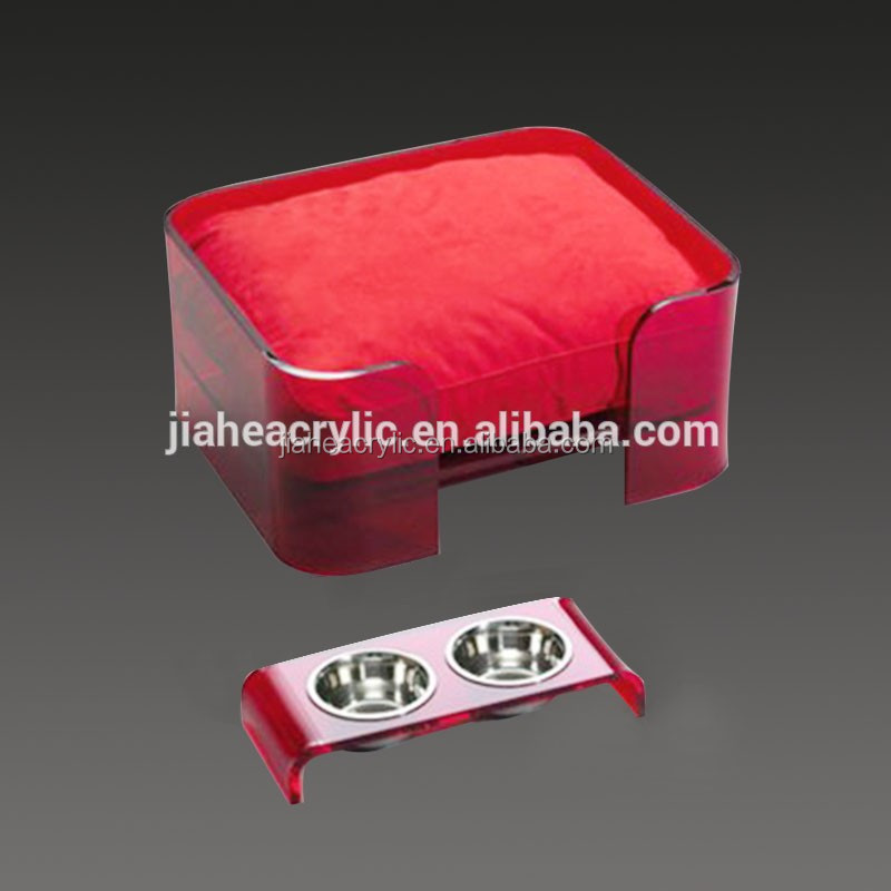 Factory custom acrylic luxury pet dog bed wholesale
