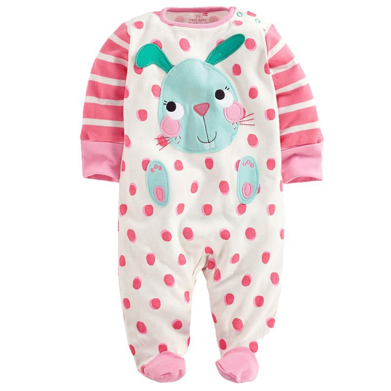 Baby Clothing ! 2015 new hot sale newborn baby one-pieces jumpsuit  baby 0-12 months girl long sleeved jumpsuit