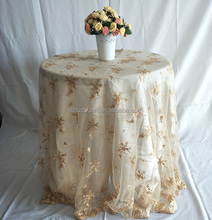 Custom Wedding Beautiful Gold Brown Lace Table Cloth 36x36