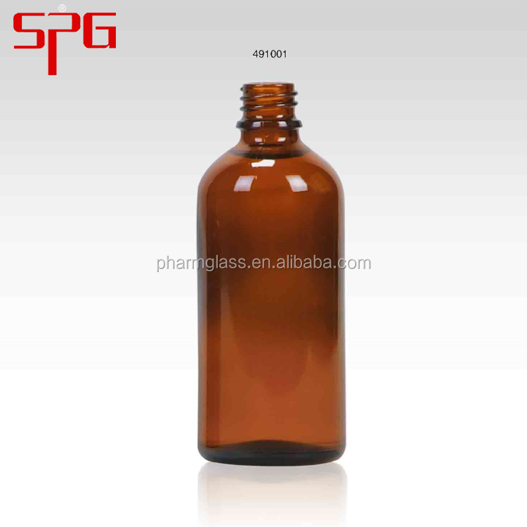 Newest design high quality 100ml amber glass eye dropper bottles