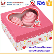 Wholesale High Quality FDA Custom Paper Cupcake boxes