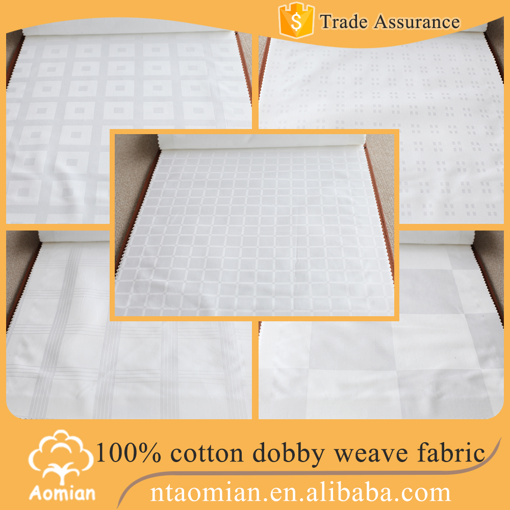wholesale 100 cotton dobby check fabric for bedding