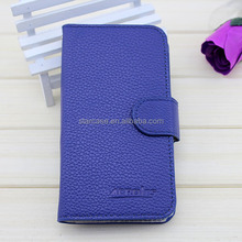 mobile phone accessory Embossed logo leather cases for Alcatel 6034