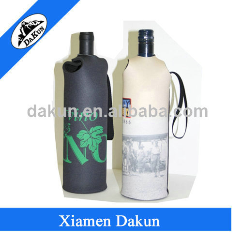 China bag supplier neoprene wine bottle hander /Dakun