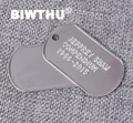 2016 BWITHU new style custom aluminum dog tag with dog tag pendant
