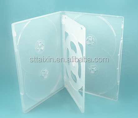 6 discs dvd case 14mm clear