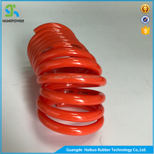 China Nylon Air Brake Pu Coil Flexible TPU Hose In Braid With Plastic Test Tube