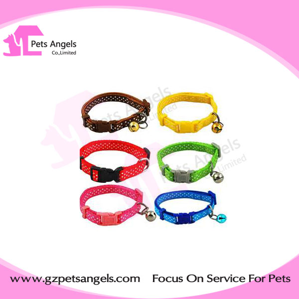 Hot selling DIY Cat design Small Puppy Kitten Kitty Cat Collar with Bell