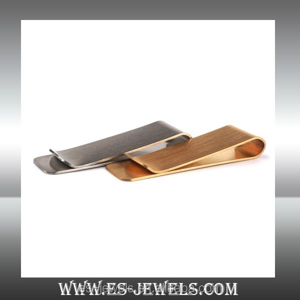 buy China jewelry discount cheap price high quality stainless steel matte finished money clip