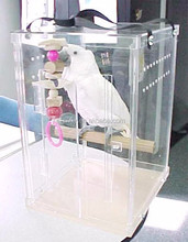 novel designed china factory direct acrylic handmade bird cage with carrying string