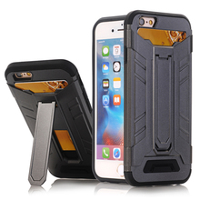 Stand card slot phone cases for iphone 8 ,Multifunctional mobile back cases for iphone 8