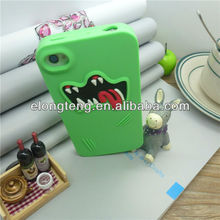 3d silicon animal case for iphone 4 cute silicone case for ipad mini silicone case for samsung galaxy s3 mini
