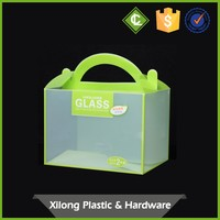Custom Transparent Plastic Hard Flat Food Grade Packing Box Cake Boxes