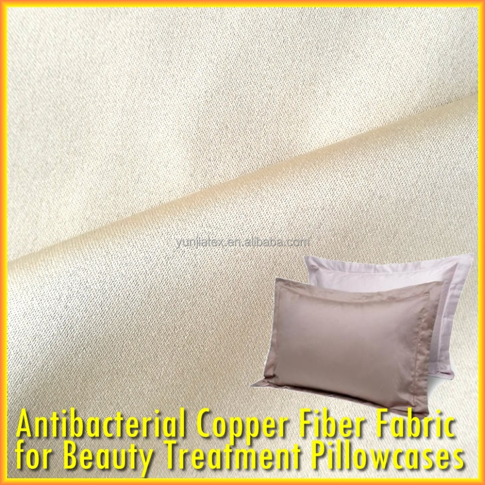 Antimicrobial Antibacterial Cu Ion Infused Fabric for Anti-Aging Pillowcase