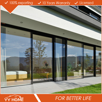 three panel aluminum glass door system triple sliding closet door for living room