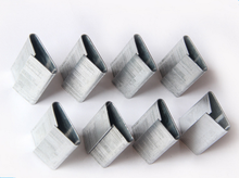 Steel packing buckles for plastic straps from Stek manufacturer