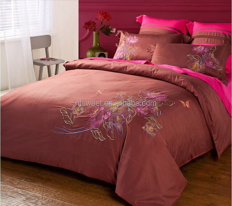 100% cotton luxury embroidery bedding sets Chinese Style hometextile