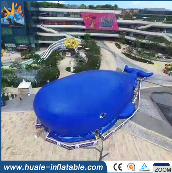 2016 popular giant whale inflatable playground for kids