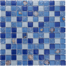 blue tiles for swimming pool deco