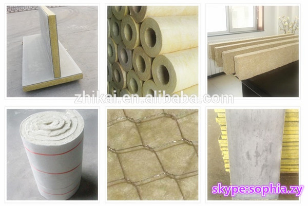 Soundproof and fireproof thermal insulation rockwool for Rockwool pipe insulation prices