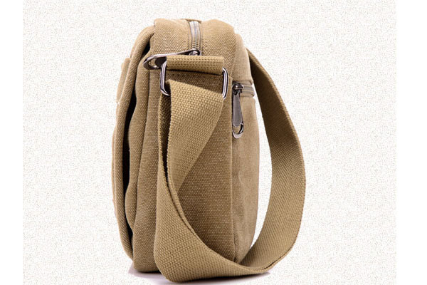 Wholesale unisex crossbody sling bag canvas messenger shoulder bag for men 2017