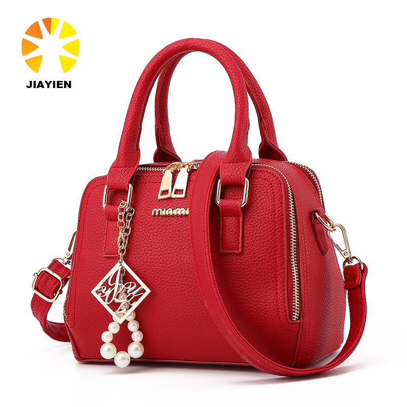 drop shipping and free shipping <strong>design</strong> your own PU leather hardware pearl handbag