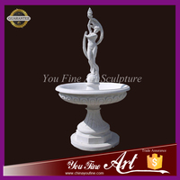 Beautiful Carved Nude Lady Water Fountain for garden