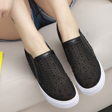 2017 summer new high women's single shoes net diamond-studded Korean casual hollow fashion wholesale shoes