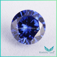 Lab Created Gemstone Round CZ Tanzanite Prices Per Carats