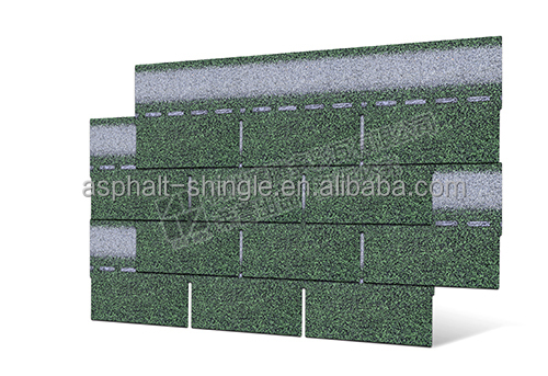 Asian Green 3 Tab Single Layer Aspahlt Shingles new building materials log house