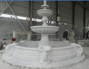 Hot Selling Beautiful Stone Carved Luxury Outdoor or Indoor Garden Trevi Marble Water Fountains