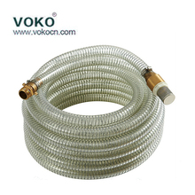 "Manufacturer flexible 4"" bule pvc spiral suction water tube dischargh hose, pump pipe fittings,plastic"