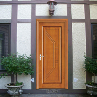 Excellent quality low price main solid wood anti-theft exterior door