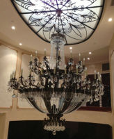Modern hotel decor crystal church chandelier