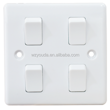 BS 4 Gang Electric Wall Switch for home