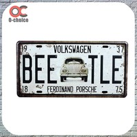 BEETLE car license number plate Vintage metal Sign For Home Decoration