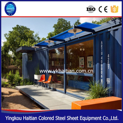 2016 pop hot sale Waterproof tiny steel prefab house, Low Cost living 20ft prefabricated container house