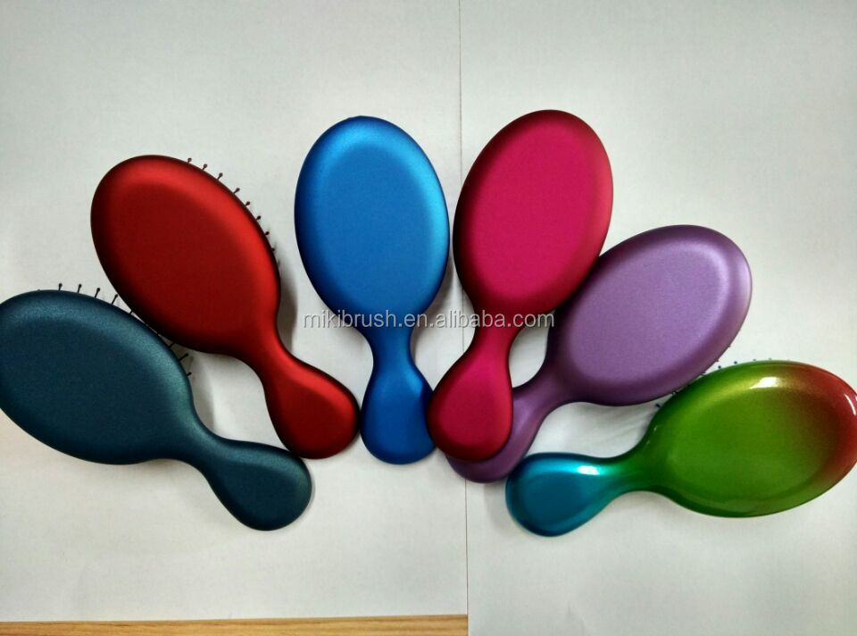 Rubberized Plastic kids cushion hair brush