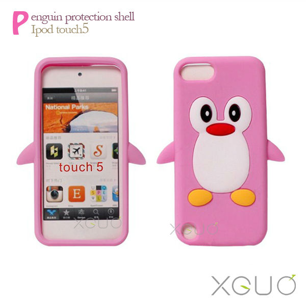Soft TPU Penguin Case Gel Back Cover for Iphone 5G 5 5th New Arrival Cute 3D cartoon