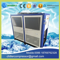 Energy Save Double or three circuit 12 tons Air Cooled Chiller, 15hp water chiller