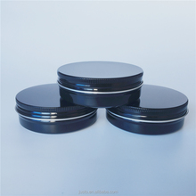 Wholesale 120ml Shinny Black Round Aluminum Tins Cosmetic Tins Cosmetic Jars For Storage