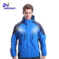 Outdoor security winter jacket customized brand windbreaker