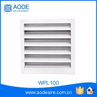 Aluminium weather air louvers for HVAC system and air conditioner, WPL100 air louver and damper diffuser